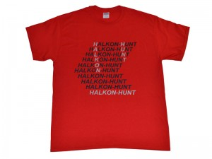 Screen Printed T Shirt Halkon Hunt